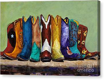 Western Canvas Print - Why Real Men Want To Be Cowboys by Frances Marino