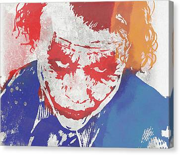 Heath Ledger Canvas Print - Why So Serious by Dan Sproul