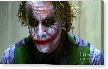 Shower Canvas Print - Why So Serious by Paul Tagliamonte