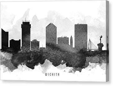 Wichita Kansas Canvas Print - Wichita Cityscape 11 by Aged Pixel