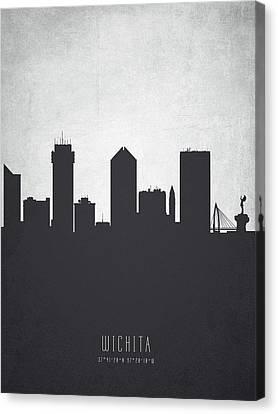Wichita Kansas Canvas Print - Wichita Kansas Cityscape 19 by Aged Pixel