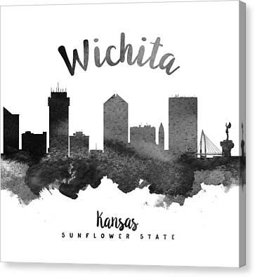 Wichita Kansas Canvas Print - Wichita Kansas Skyline 18 by Aged Pixel