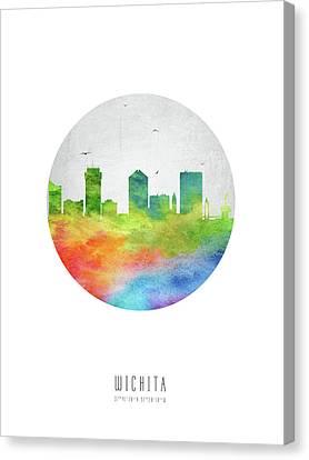 Wichita Kansas Canvas Print - Wichita Skyline Uskswi20 by Aged Pixel