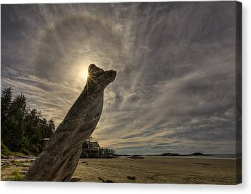 Wickaninnish Beach Sun Halo Canvas Print