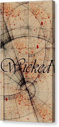 Wicked Canvas Print by Cynthia Powell