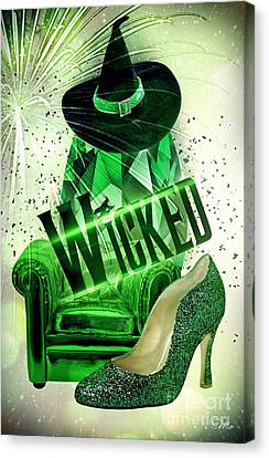 Canvas Print featuring the digital art Wicked by Mo T