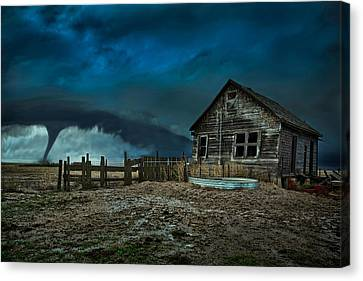 Barn Storm Canvas Print - Wicked by Thomas Zimmerman