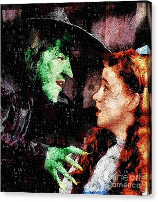 Actress Canvas Print - Wicked Witch And Dorothy, Wizard Of Oz by John Springfield