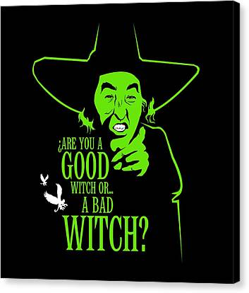 Wicked Witch Of West Canvas Print by Mos Graphix