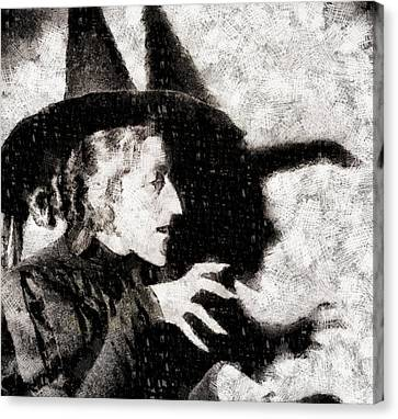 Actress Canvas Print - Wicked Witch, Wizard Of Oz by John Springfield