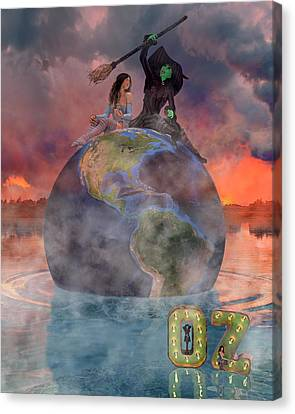 Wickedful Oz Canvas Print by Betsy Knapp