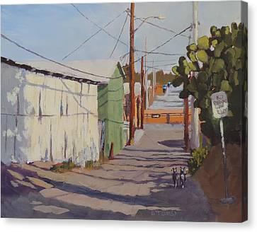 Wickenburg Alley Cats Canvas Print