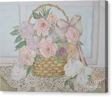 Wicker And Old Lace Canvas Print