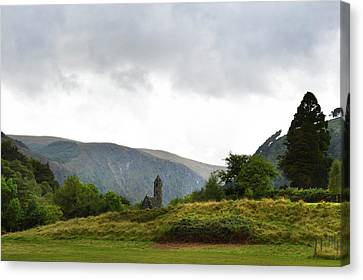 Canvas Print featuring the photograph Wicklow Mountains by Terence Davis