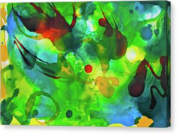 Canvas Print featuring the painting Widdy Fishy by Michele Myers
