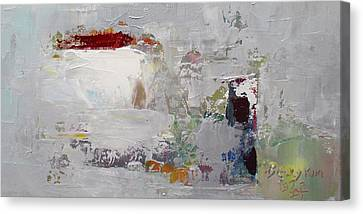 Pallet Knife Canvas Print - Wide Abstract B by Becky Kim