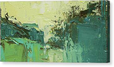 Wide Abstract H Canvas Print by Becky Kim