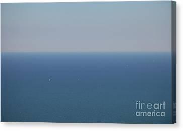 Wide Blue Sea Canvas Print by Holger Ostwald