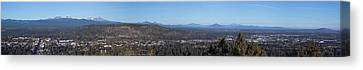 Wide Panorama Of Bend Oregon Canvas Print