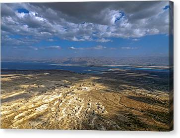 Wide View From Masada Canvas Print