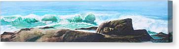 Widescreen Wave Canvas Print by Ken Meyer