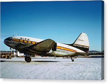 Wien Alaska Airlines Curtiss-wright Cw-20 N1548v Canvas Print by Wernher Krutein