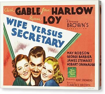 Wife Versus Secretary 1936 Canvas Print