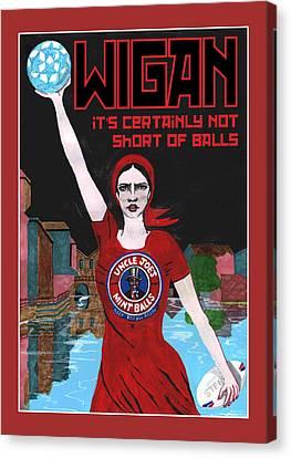Wigan Poster Canvas Print