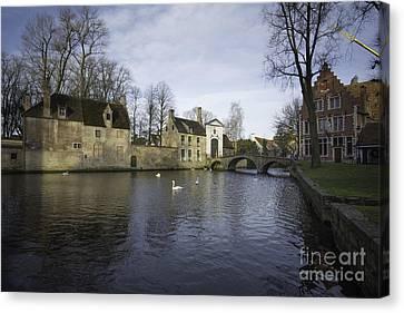 Wijngaardplein Bruges Canvas Print