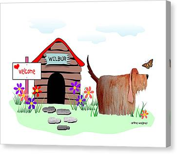 Wilbur And The Butterfly Canvas Print