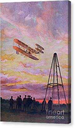 Wilbur Wright In Flight Canvas Print