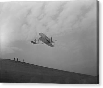 Wilbur Wright Pilots A Glider Canvas Print