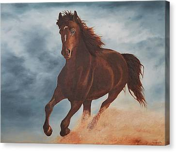 Wild And Free Canvas Print by Christine Brunette