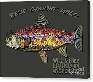 Wild And Free In Anchorage-trout With Hat Canvas Print