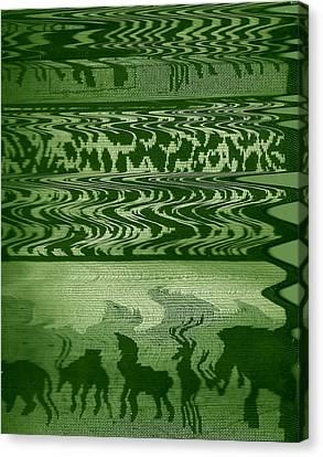 Wild  And Ziggy Animals In A Row  Canvas Print by Anne-Elizabeth Whiteway