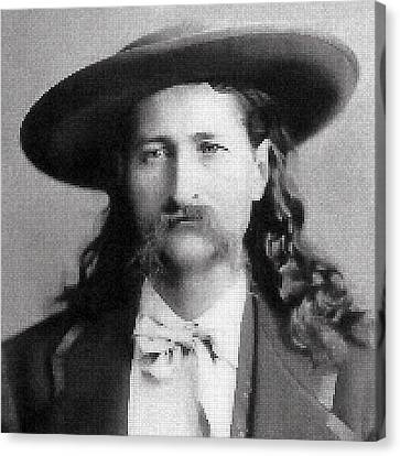 Wild Bill Hickok Mosaic Canvas Print