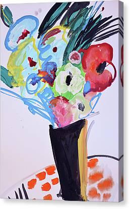 Wild Blue Flowers Canvas Print