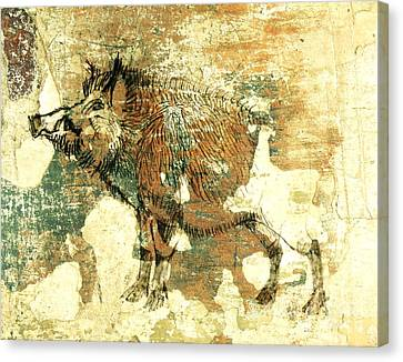 Wild Boar Cave Painting 1 Canvas Print by Larry Campbell