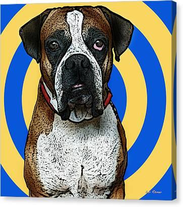 Wild Boxer 1 Canvas Print by Bibi Romer