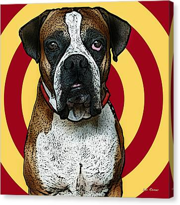 Wild Boxer 2 Canvas Print by Bibi Romer