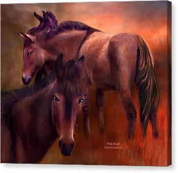 Wild Breed Canvas Print by Carol Cavalaris