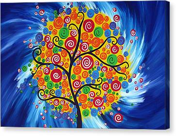 Abstract Art On Canvas Print - Wild Dream Tree by Cathy Jacobs