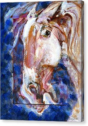 Wild Eye Canvas Print by Mary Armstrong