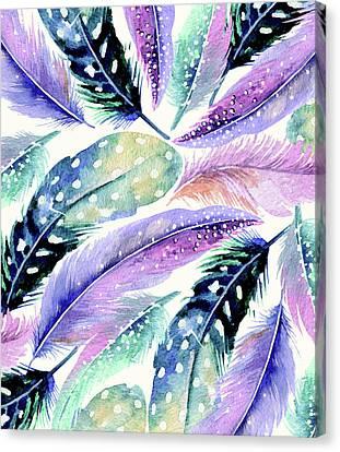Wild Feathers Canvas Print by Uma Gokhale