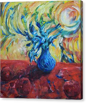 Canvas Print featuring the painting Wild Flower by Yulia Kazansky