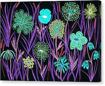 Wild Flowers Illuminated Canvas Print