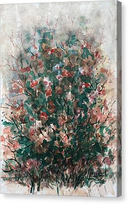 Canvas Print featuring the painting Wild Flowers by Laila Awad Jamaleldin