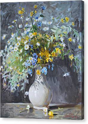 Wild Flowers Canvas Print by Ylli Haruni