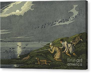 Wild Fowl Shooting Canvas Print by Henry Thomas Alken
