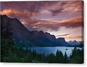 Wild Goose Island Glacier National Park Canvas Print by Rich Franco